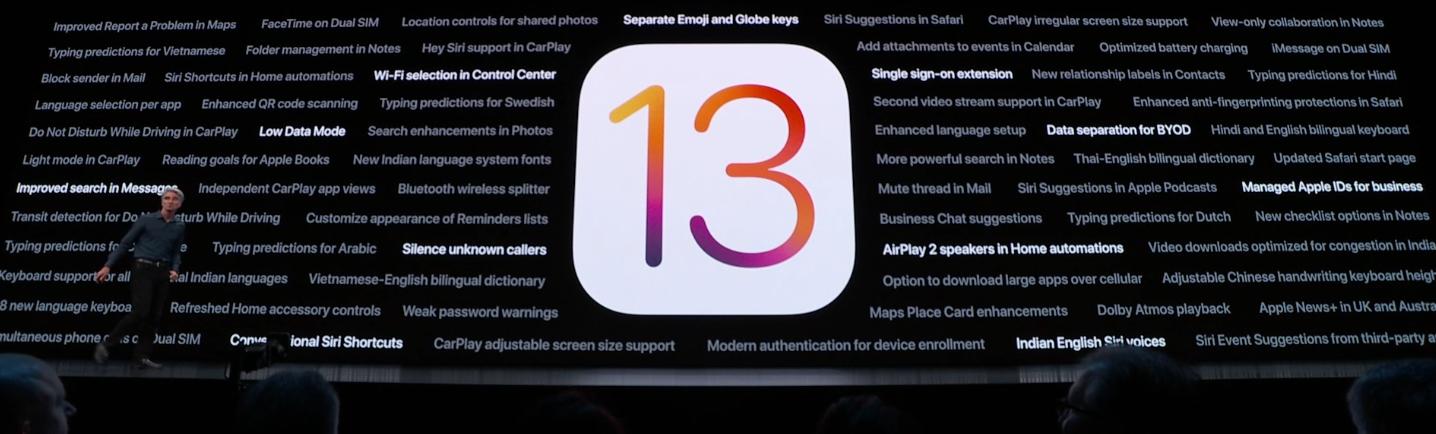 Nyheter i iOS 13.