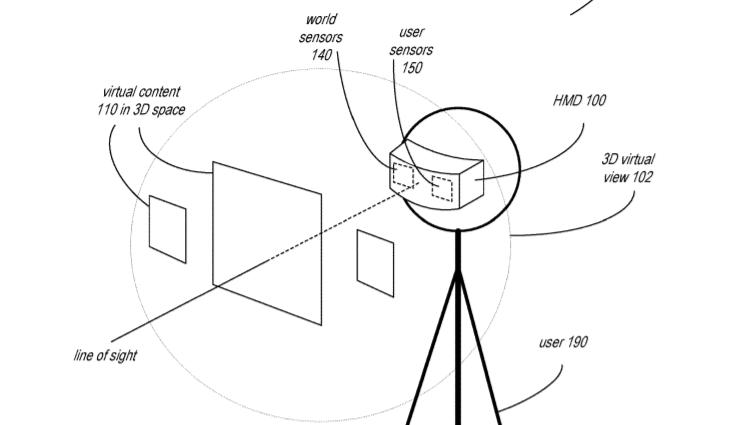Apple AR/VR-hodesett patent