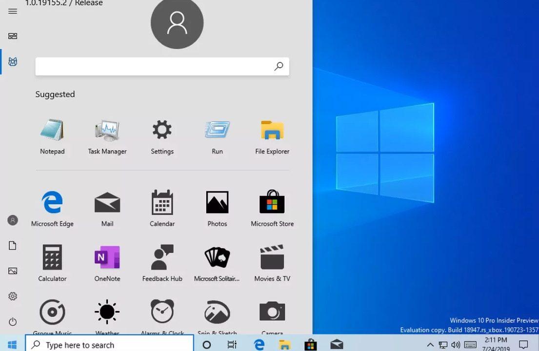 Startmeny Windows 10