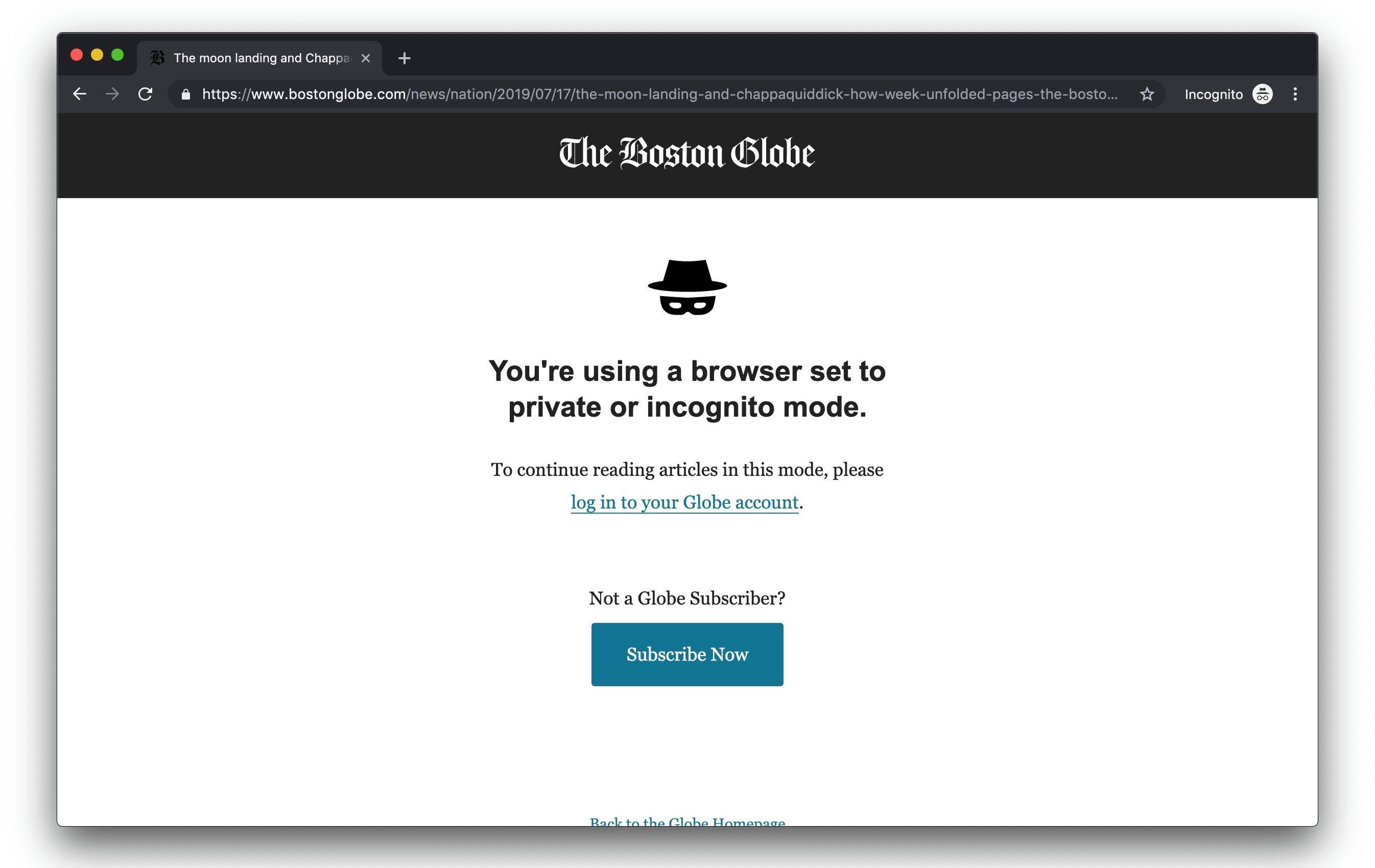I tidligere versjoner av Chrome kunne du støte på denne meldingen.