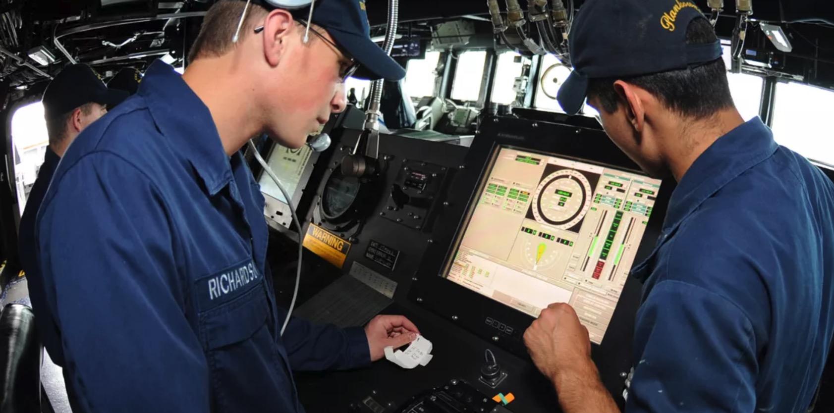 Marinen touchskjerm