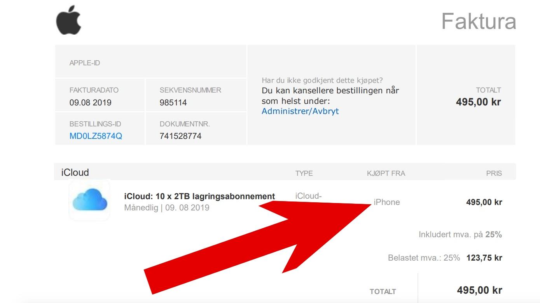 Apple e-post falsk svindel