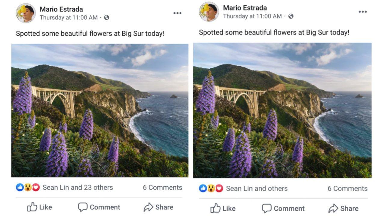 Facebook skjuler liker