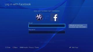 Facebook PS4