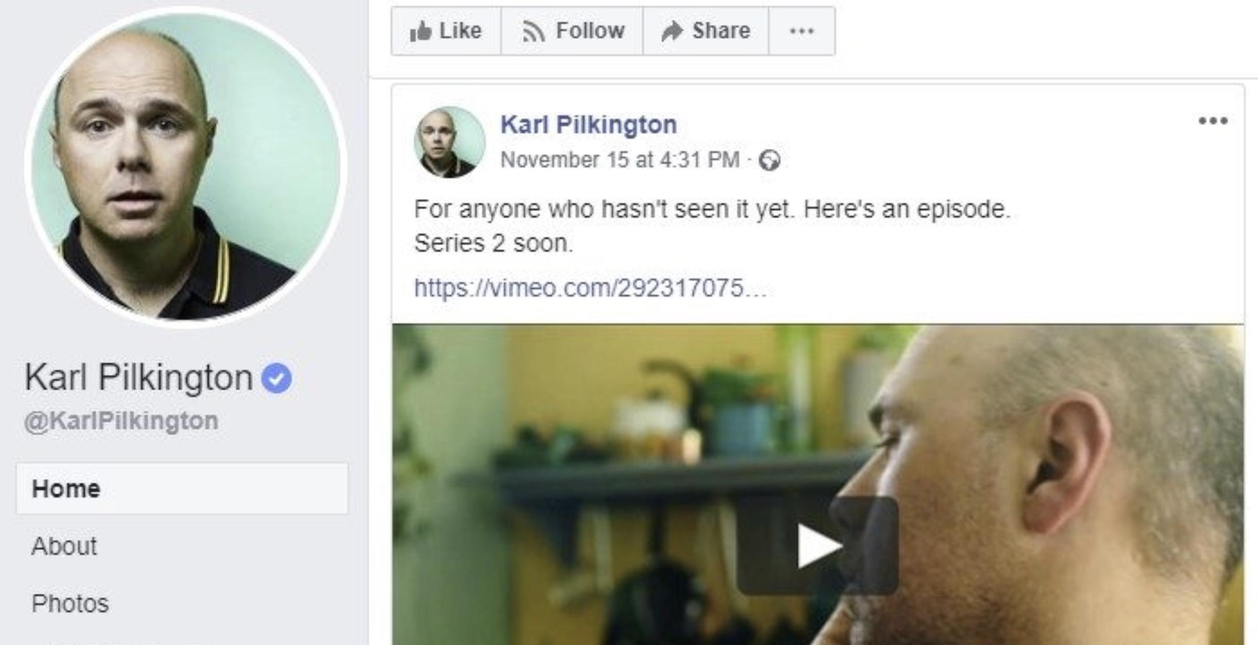 Karl Pilkington Facebook