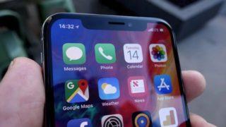 iPhone skjerm