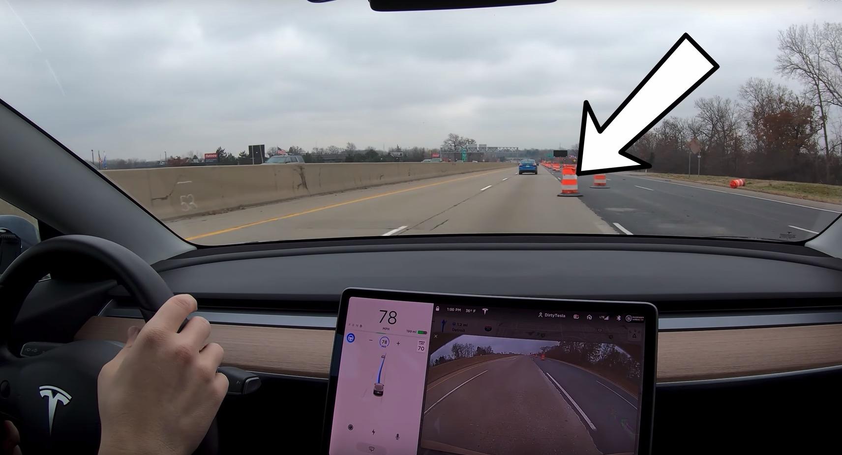 Tesla Autopilot kjegle