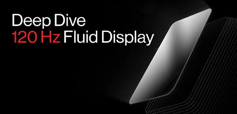 OnePlus 120Hz skjerm