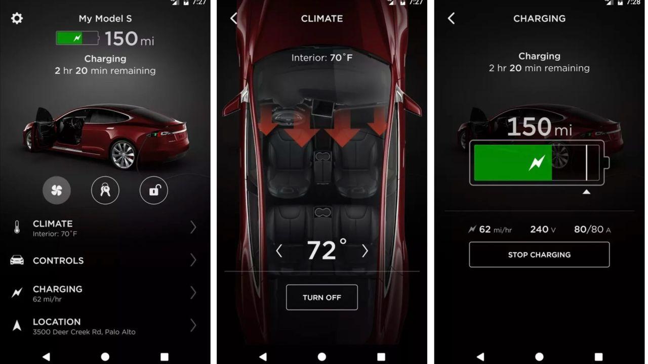 Tesla oppdatering programvare