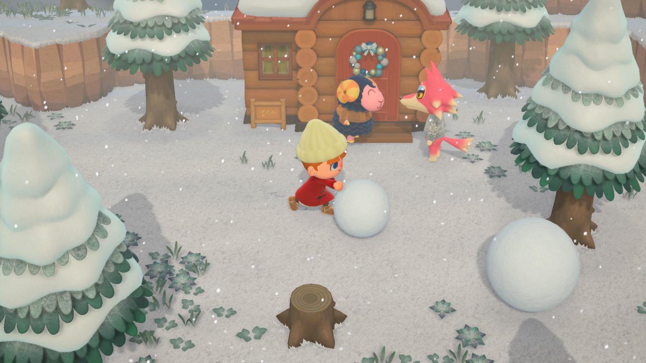 Når det er vinter i virkeligheten, så er det vinter i spillet også.