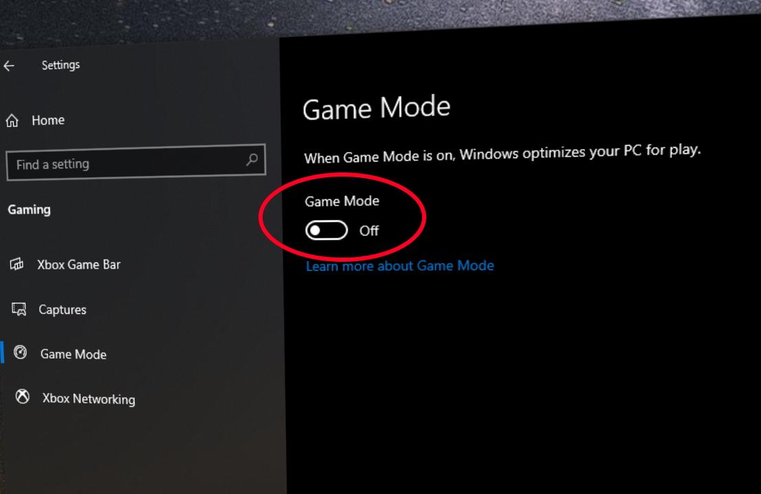 windowsgamemode