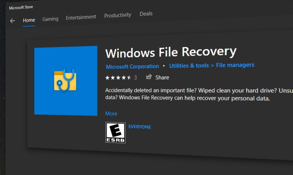 WindowsFileRecovery