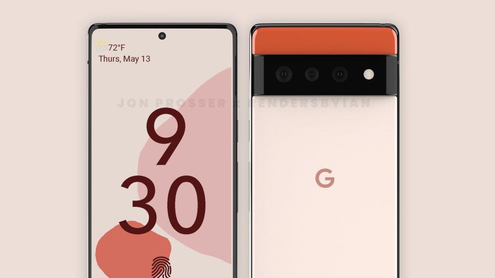 Illustrasjon av det nye Google Pixel 6 designet. Kilde: John Prosser