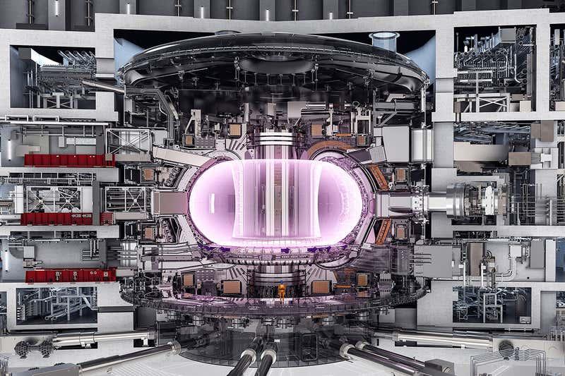 ITER fusjonsreaktor.