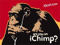 iDon't iChimp anti-iPod