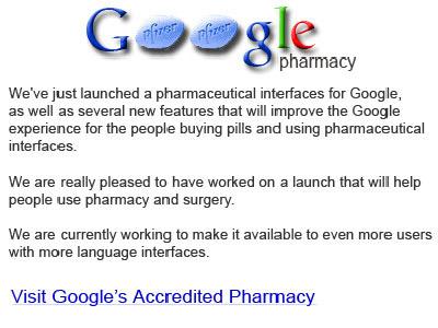 Google Pharmacy stor