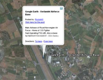 Google earth ørland flystasjon