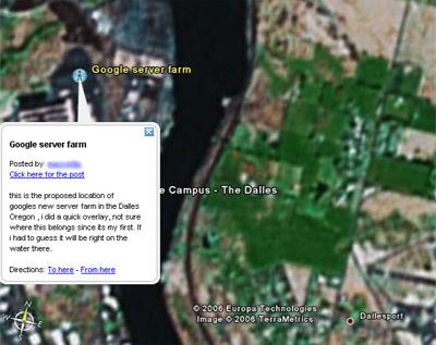 Google Server Farm The Dalles
