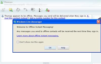 Windows Live Messenger offline