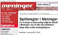 Dagbladet.no meninger