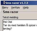 SMS Razor