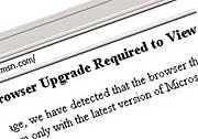MSN browser upgrade req