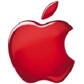 Apple logo rød