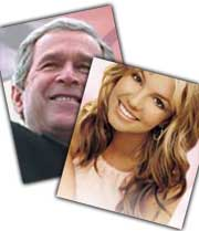 Britney og Bush