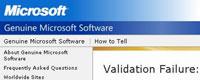 Windows XP validering