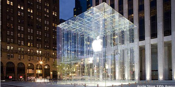 Og slik ser Apples butikk ut i dag.