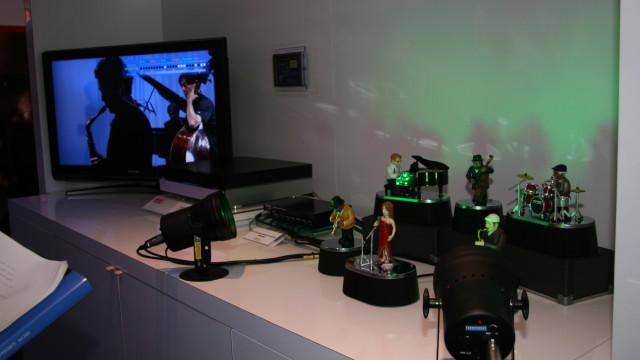 <b>MODELL: </b> Toshiba har utviklet denne modellen for å illustrere de interaktive mulighetene som ligger i HD DVD.