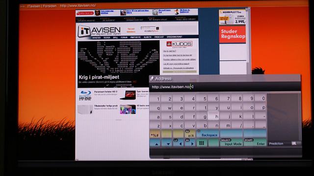 Nettleseren er mye lettere å betjene med tastatur