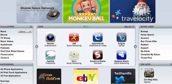 App Store har over 500 programmer allerede, mange av dem gratis.