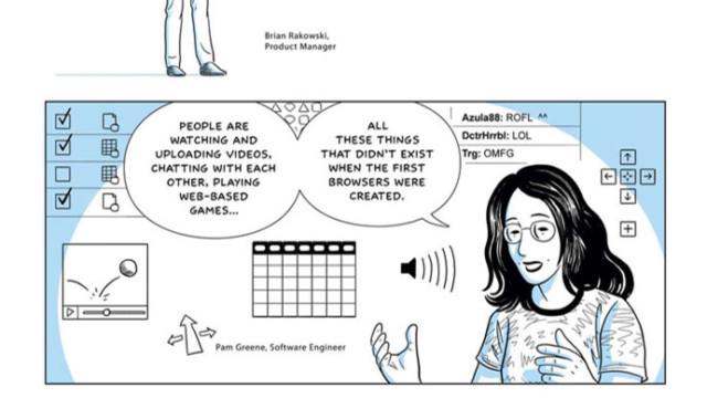 Denne stripa forklarer konseptet bak nettleseren.
