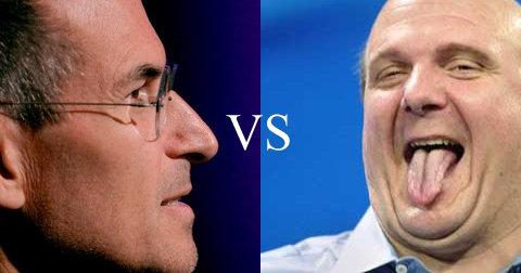 Igjen krangler de to selskapene. Det er Microsoft og Apple og Steve Ballmer mot Steve Jobs.