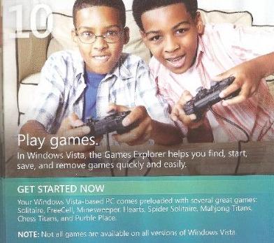 Det er heller ikke kjent hvorfor MS bruker Playstation-kontrollere for å reklamere for gaming i Vista.