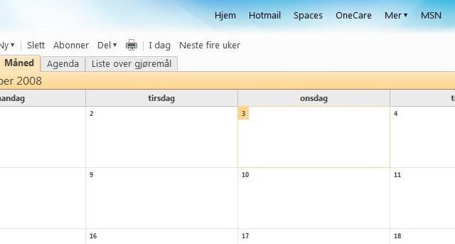 Nye Live byr blant annet på en ny kalender. Også den nås via portalen din (home.live.no). Merk: denne kalenderen er fortsatt i beta.