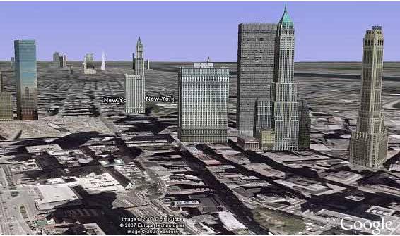 Slik så New Yorks 3D-kart ut på Google Earth før.