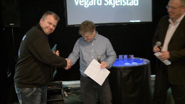 Årets Geek 2009 Vegard Skjefstad, ITavisen-redaktør Tore Neset og Microsoft Norge-sjef  Knut Morten Aaserud.