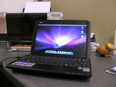 OSX er populært også på netbooks.