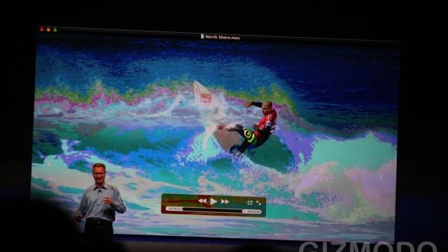 Også QuickTime 10 ble vist frem. Den nye spilleren ligner mye på iTunes.