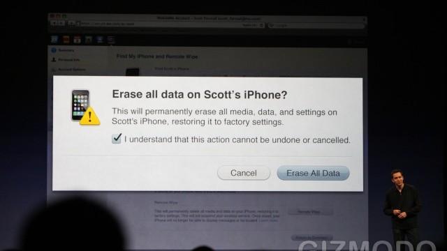 For å beskytte private data kan du slette innholdet på iPhonen fra Internett.