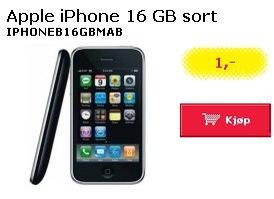 Slik markedsfører Lefdal iPhone til 1 krone. Pluss svindyrt abonnement...