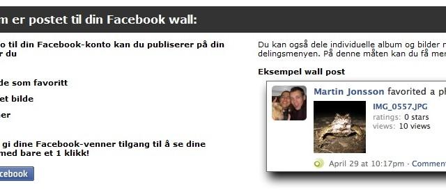 Slik fungerer delingen med Facebook.