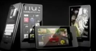 En skjermdump fra reklamevideoen der det avsløres 3D-gaming i nye Zune HD.
