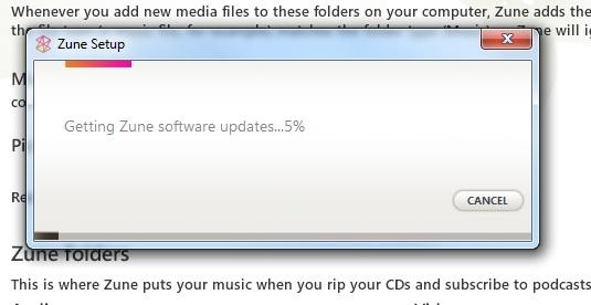 Last ned innstallasjonsfilen eller oppdater om du allerede har Zune Software installert.