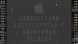 Denne brikken sitter i den nyeste utgaven av iPhone, og er produsert av Samsung. Men de fleste tror at det <i>er</i> en Apple-chip likevel.