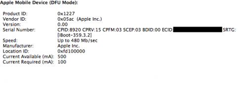 Dette skal være beviset på at Apple har laget en ny bootloader på 3GS.