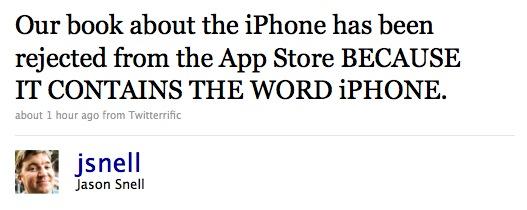 Denne ble først ikke godkjent av Apple. Senere ringte Apple og unnskyldte seg.