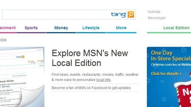 Slik ser den nye versjonen av MSN ut. «Juletreet» er borte.
